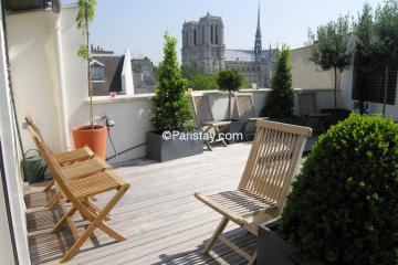 Apartment Notre Dame Terrace View