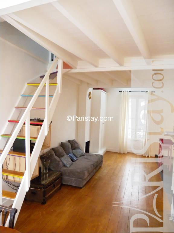 One Bedroom Duplex Apartment Paris Butte Aux Cailles 75013