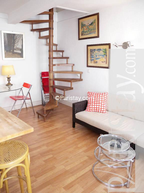 One Bedroom Duplex Apartment Short Term Rental Montorgueil