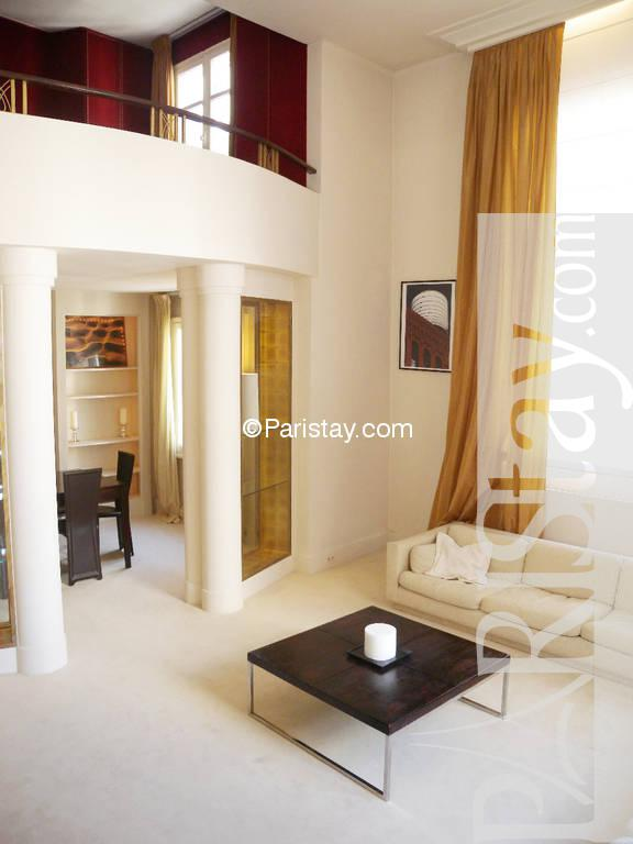 2 bedroom luxury duplex apartment long term rental Tour Eiffel 75015