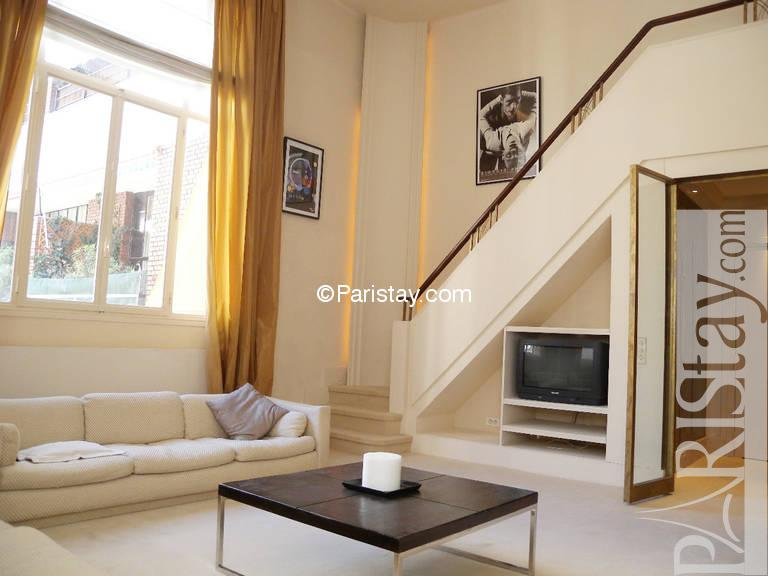 bedroom luxury duplex apartment long term rental tour eiffel 75015