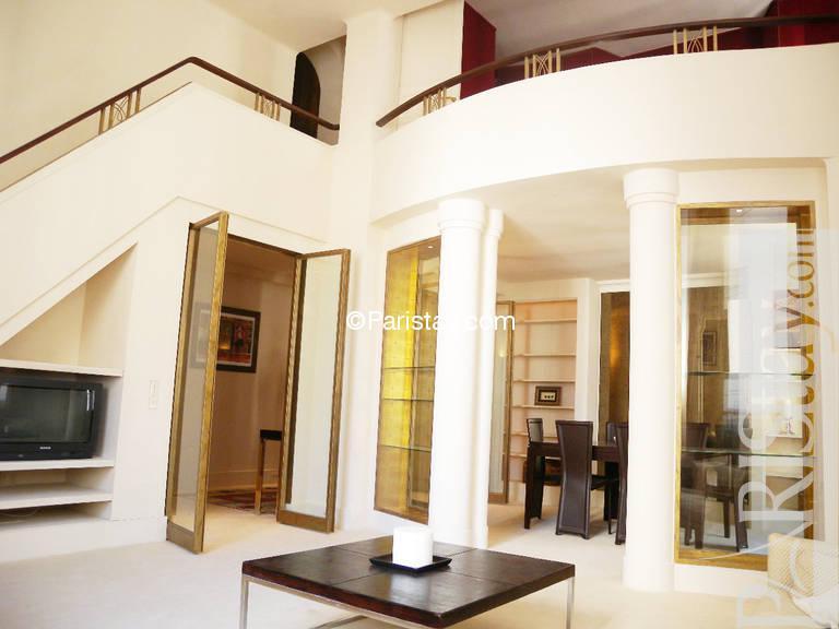 2 bedroom luxury duplex apartment long term rental tour eiffel 75015