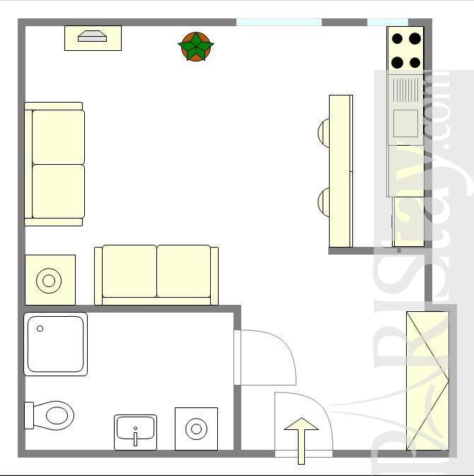 Short Term Lease Apartments: Studio Short Term Rental Paris Lettings Montorgueil 75002