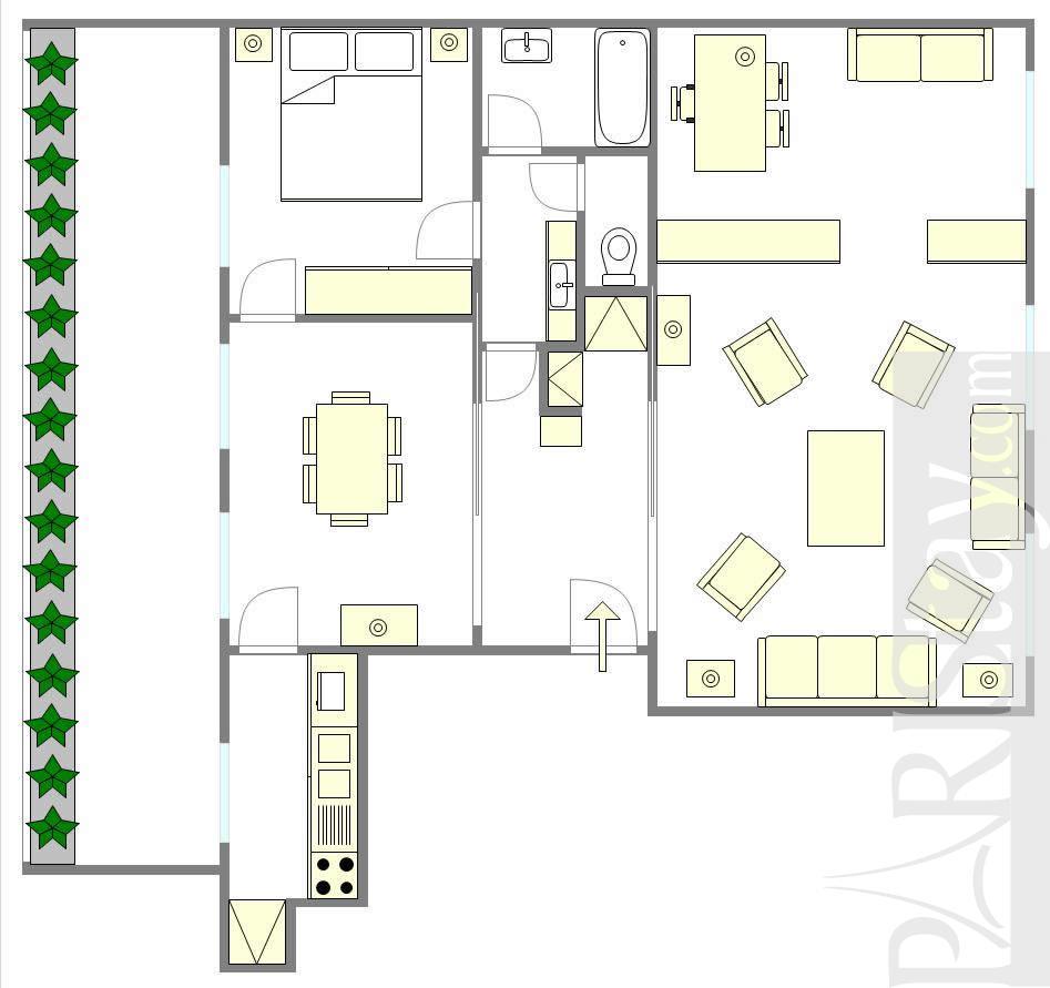 1 bedroom apartment short term renting paris luxury st germain des pres 75007 paris - Terras appartement lay outs ...