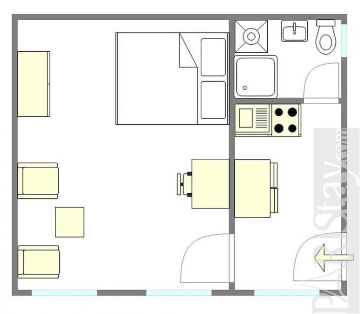 Cheap Apartments For Rent 1 Bedroom: 1 Bedroom Affordable Apartment Long Term Renting Paris