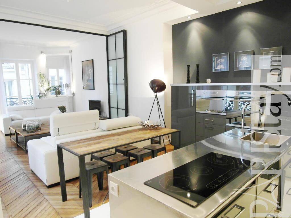 2 bedroom loft luxury apartment renting grands boulevards 75009 paris