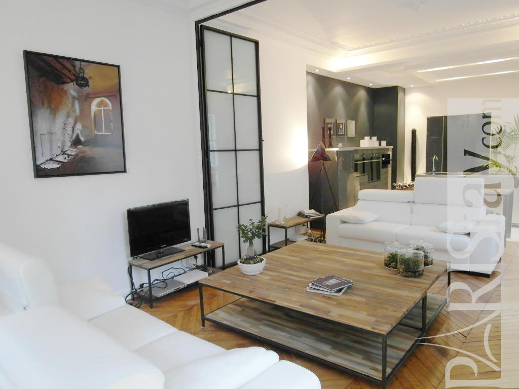 2 bedroom loft luxury apartment renting grands boulevards - Pictures of apartment living rooms ...