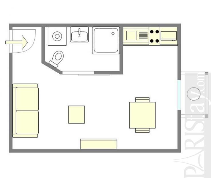 Short Term Lease Apartments: Studio Short Term Rent Housing In Paris Montmartre 75018 Paris