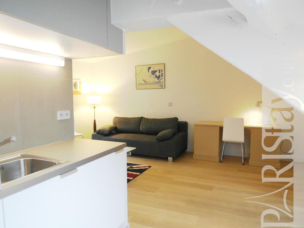 Paris location meubl e appartement type t1 studio rousseau for Appartement type loft