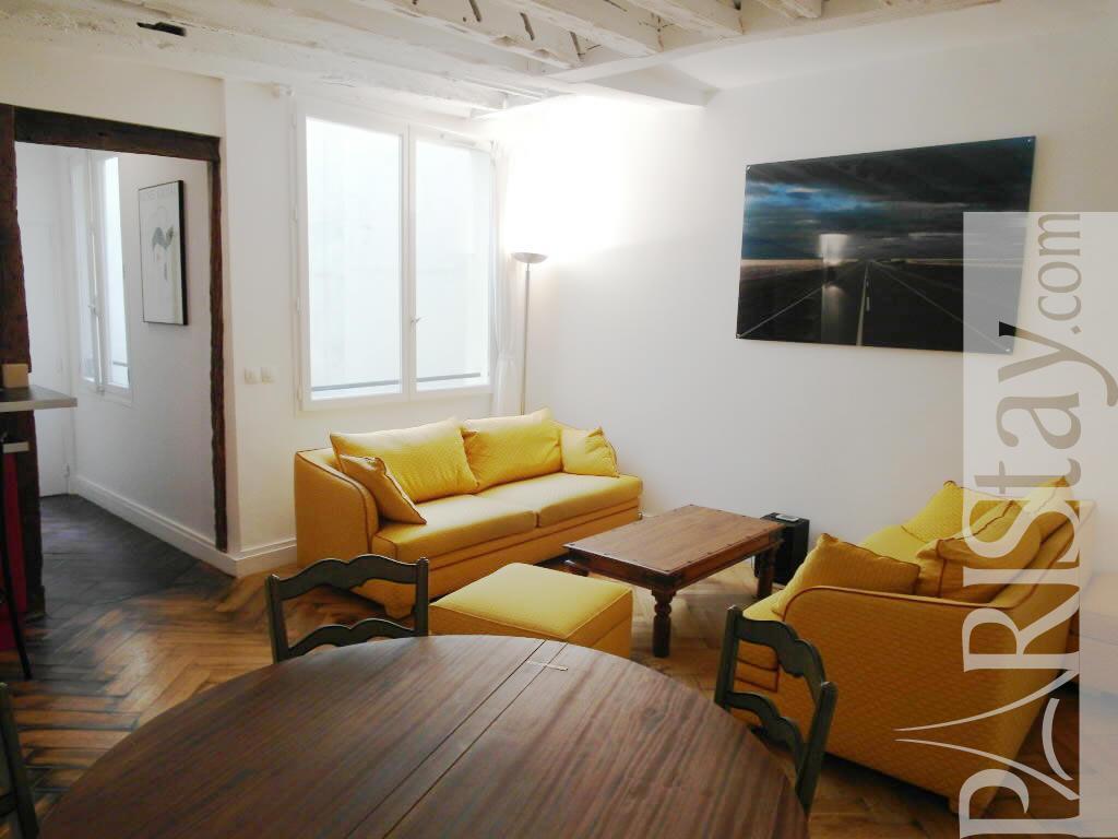 Paris location meubl e appartement type t3 saint denis for Salon de the chatelet