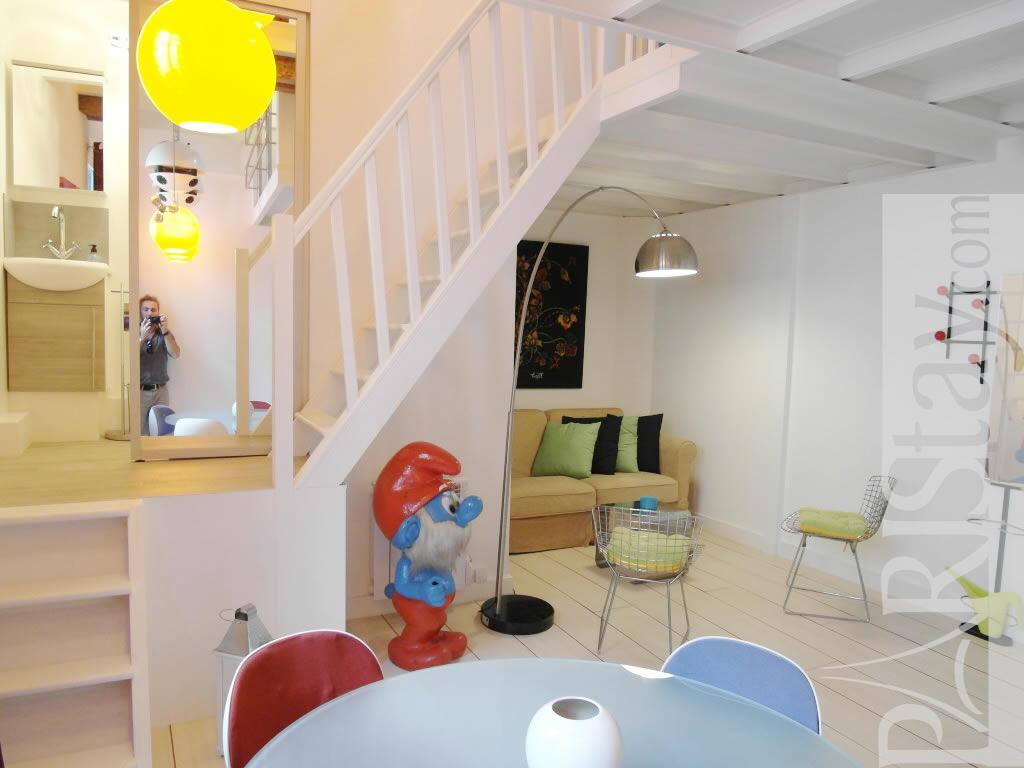 paris location meubl e appartement type t2 scipion mezzanine. Black Bedroom Furniture Sets. Home Design Ideas