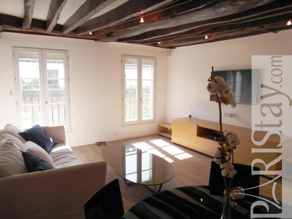 Paris location meubl e duplex type t3 bellan duplex for Duplex appartement paris