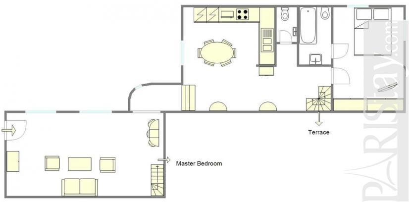 Vacation rent paris luxury louvre 75001 paris - Terras appartement lay outs ...