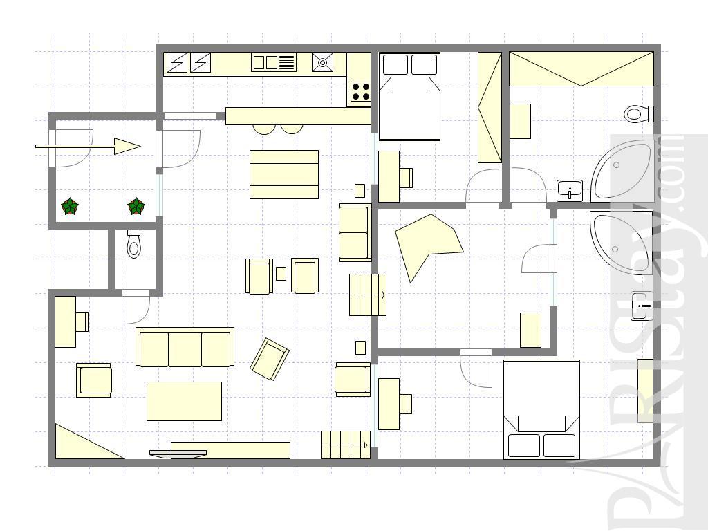 Paris apartment rental luxury montmartre 75009 paris for Sauna layouts floor plans