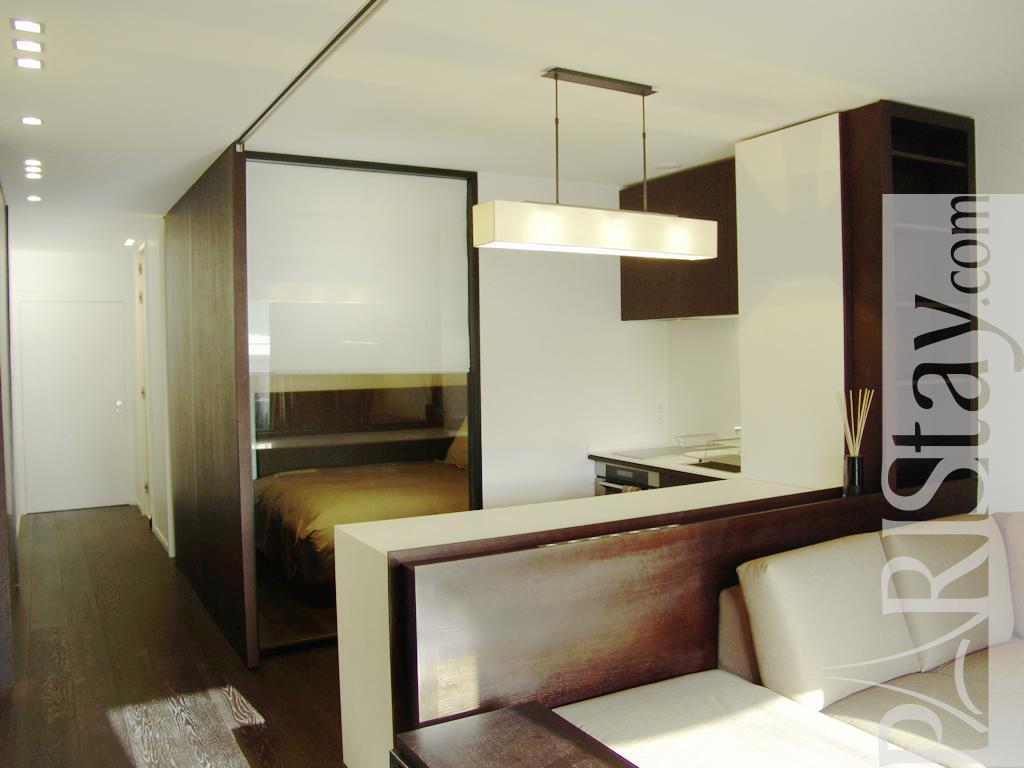 Furnished studio apartment for rent maison de la radio for Alcove studio