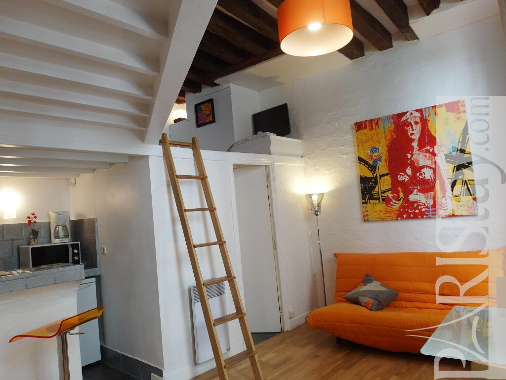 Paris location meubl e appartement type t1 studio buci mezzanine - Appartement avec mezzanine ...