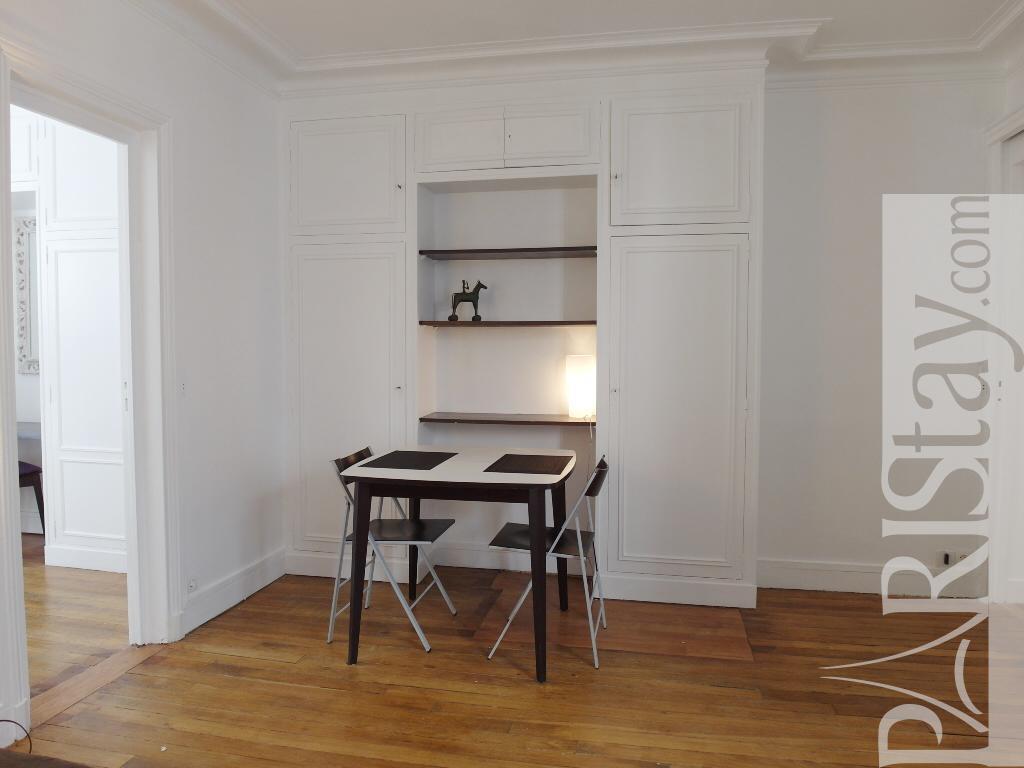 Paris location meubl e appartement type t2 cler duvivier for Salon duvivier