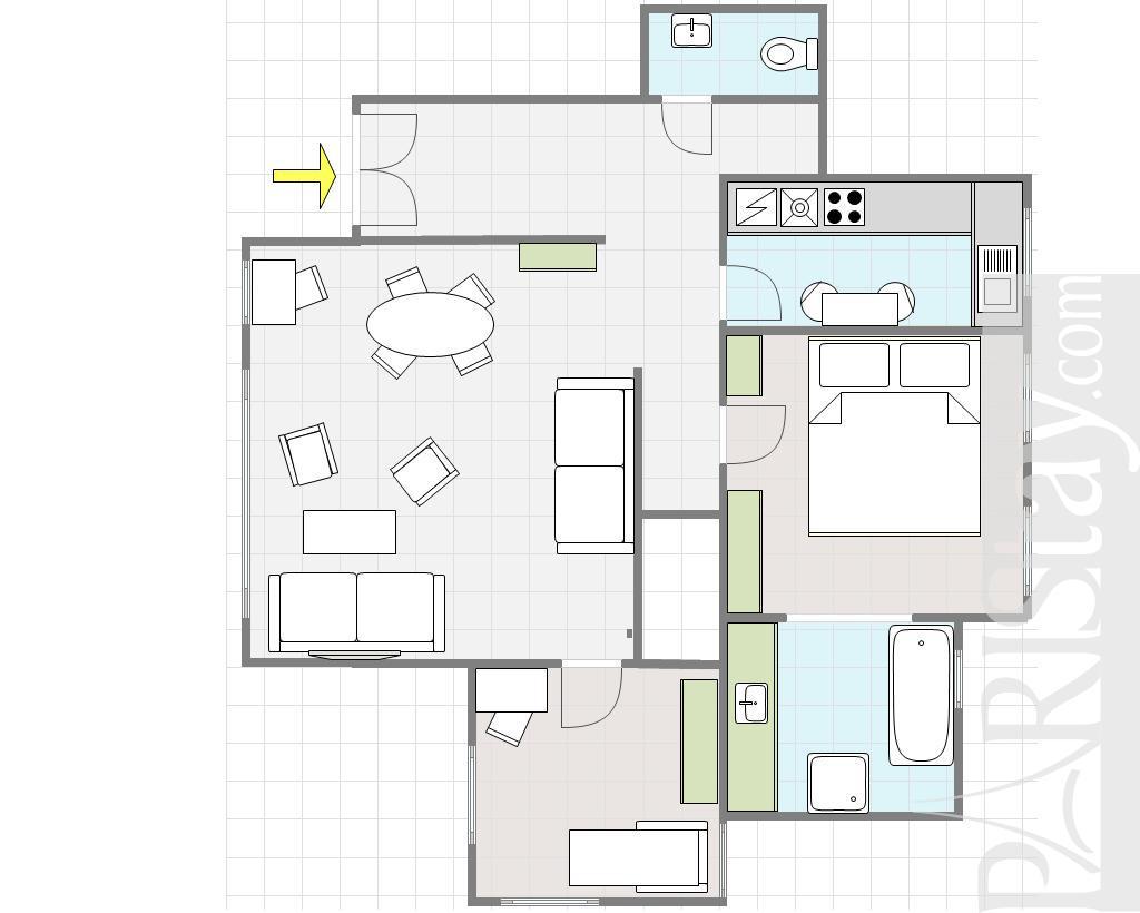 paris apartment rentals view eiffel tower champs de mars 75015 paris