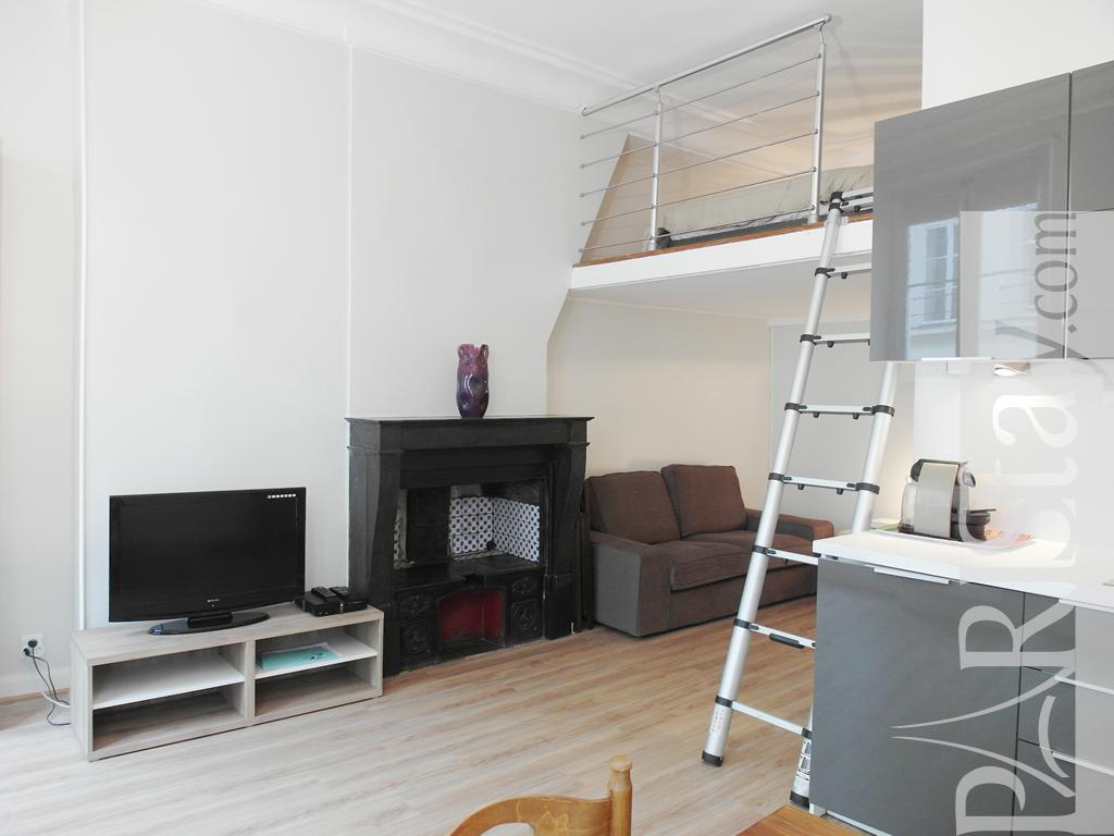 Paris location meubl e appartement type t1 studio victoire mezzanine - Kind mezzanine kantoor ...