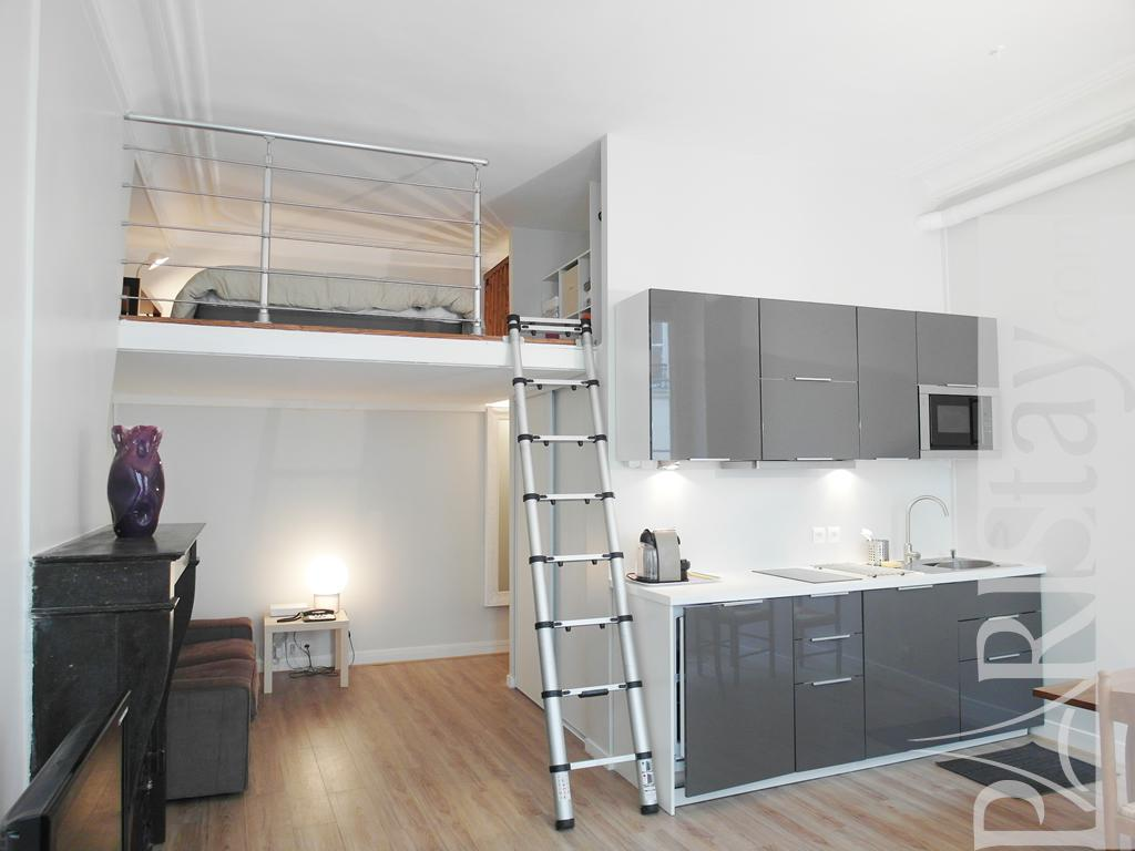 Paris location meubl e appartement type t1 studio victoire mezzanine - Studio mezzanine ...
