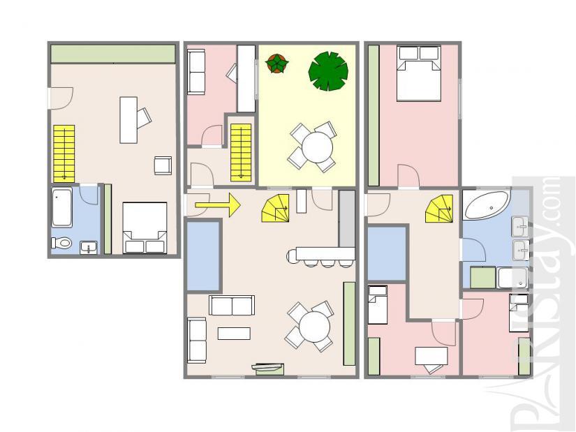 Paris corporate rentals monceau parc monceau 75017 paris - Terras appartement lay outs ...