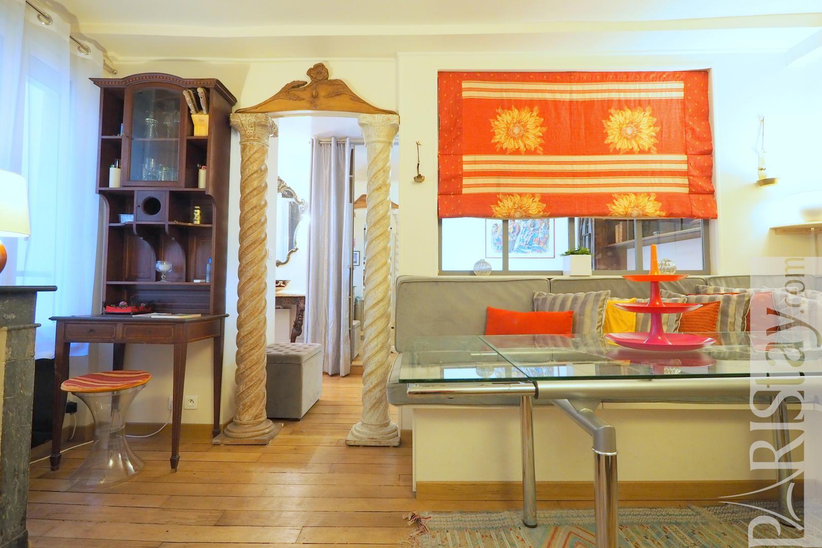 Location appartement meubl paris t2 batignolles une chambre for Location paris meuble