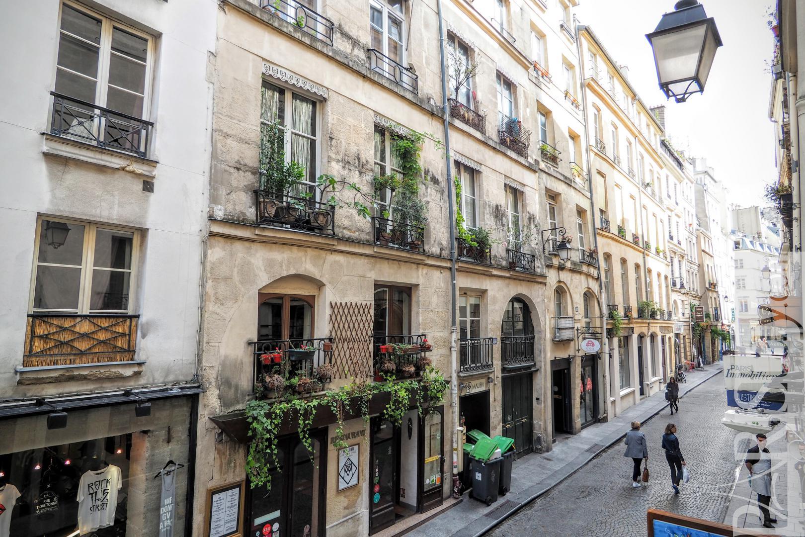 Apartment for rent in paris one bedroom terrace Montorgueil