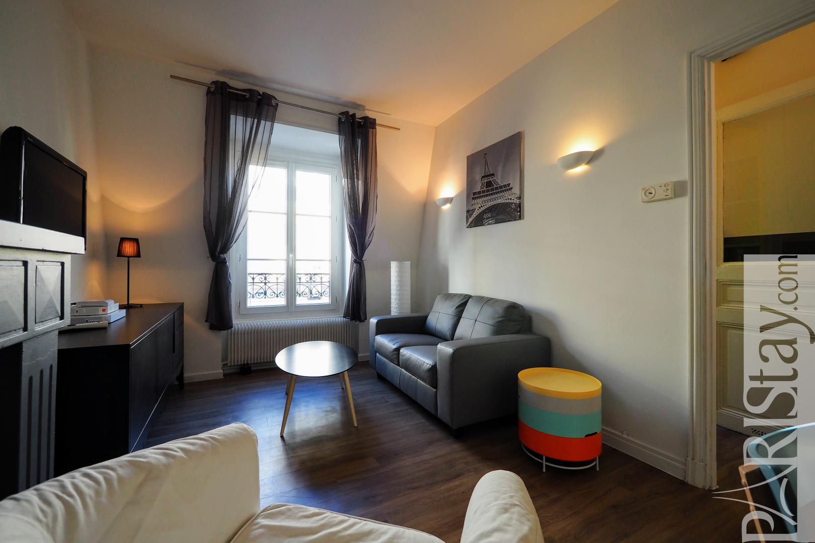 Paris 2 bedroom apartment for rent furnished republique temple