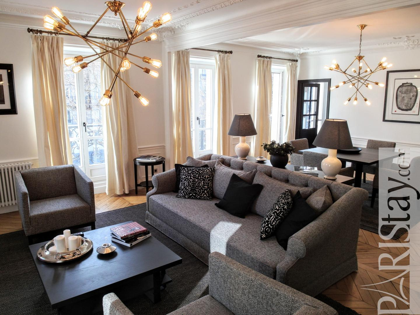 Paris Luxury Apartment Rentals Furnished 3 Bedroom Long Term Rental