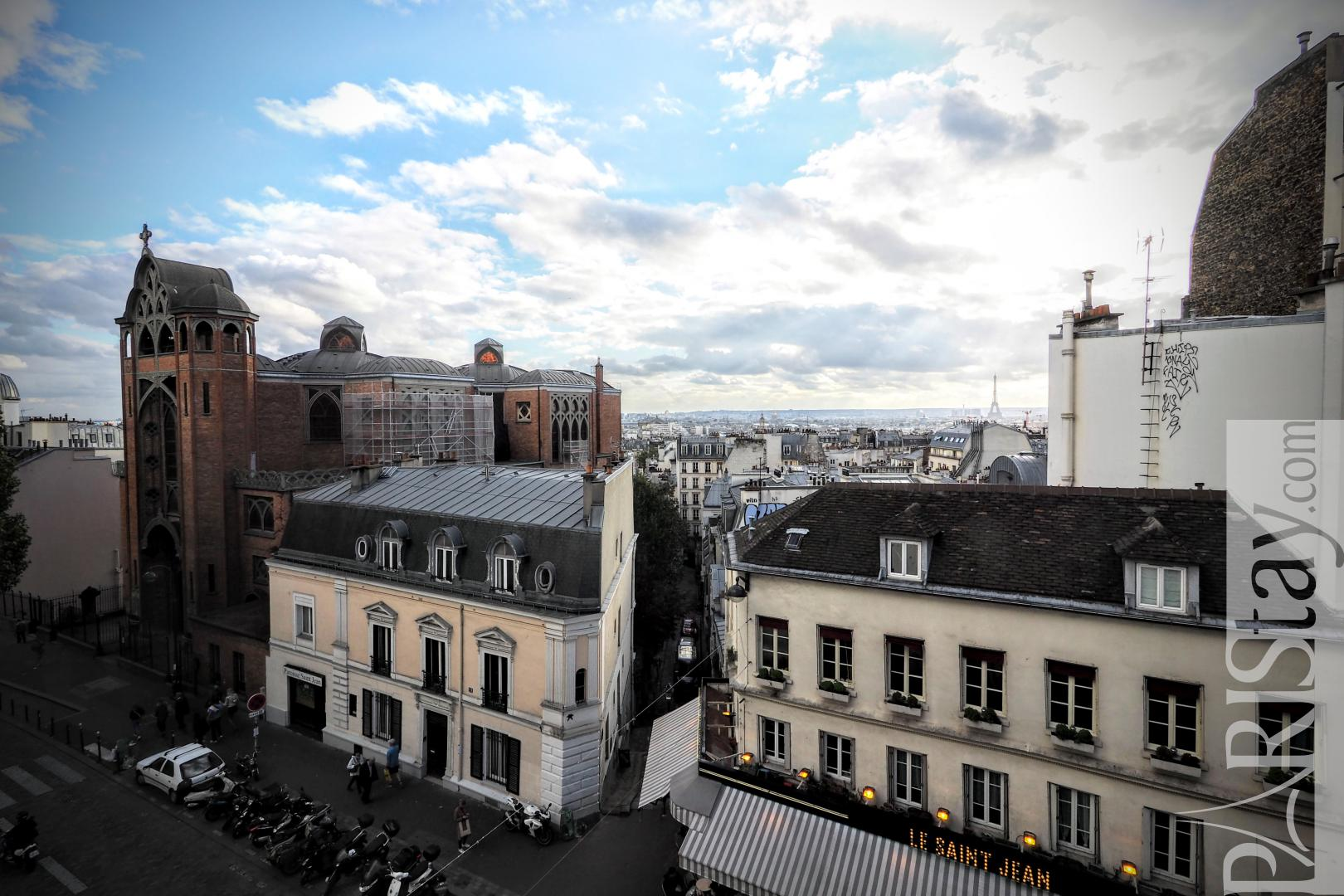 Paris flat for rent Montmartre one bedroom apartment for rent