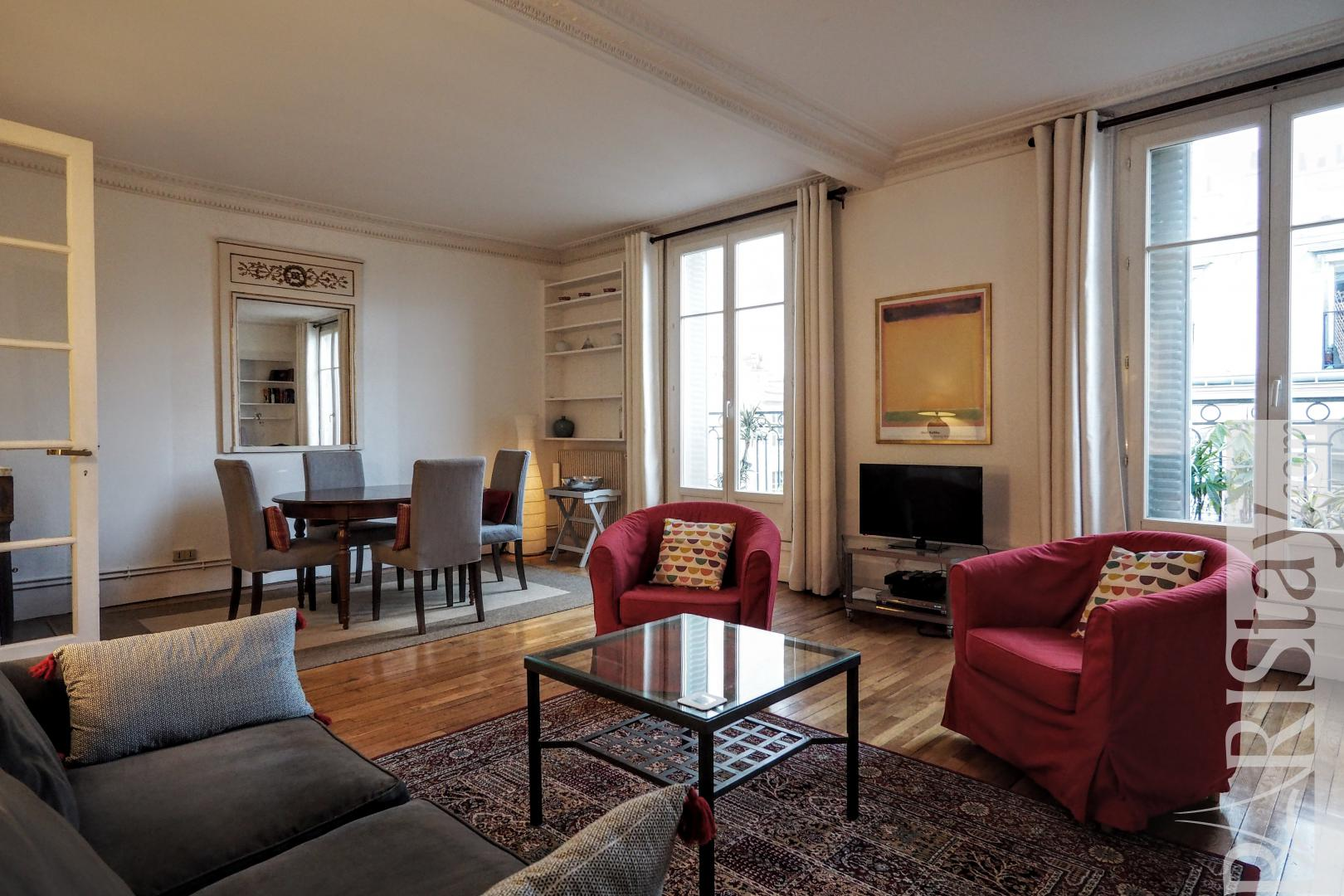 Paris flat for rent 2 bedrooms furnished apartment Place ...
