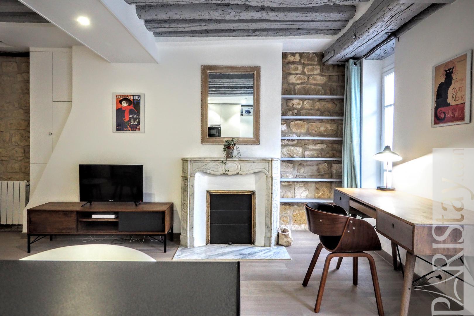 location appartement meuble paris t2 bac saint germain orsay louvre. Black Bedroom Furniture Sets. Home Design Ideas