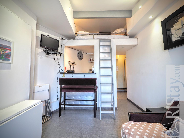 Paris Apartment Rental Long Term Studio Mezzanine