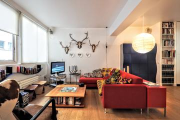 2 bedrooms of Spacious designer 2BR Paris apartment rentals Bastille