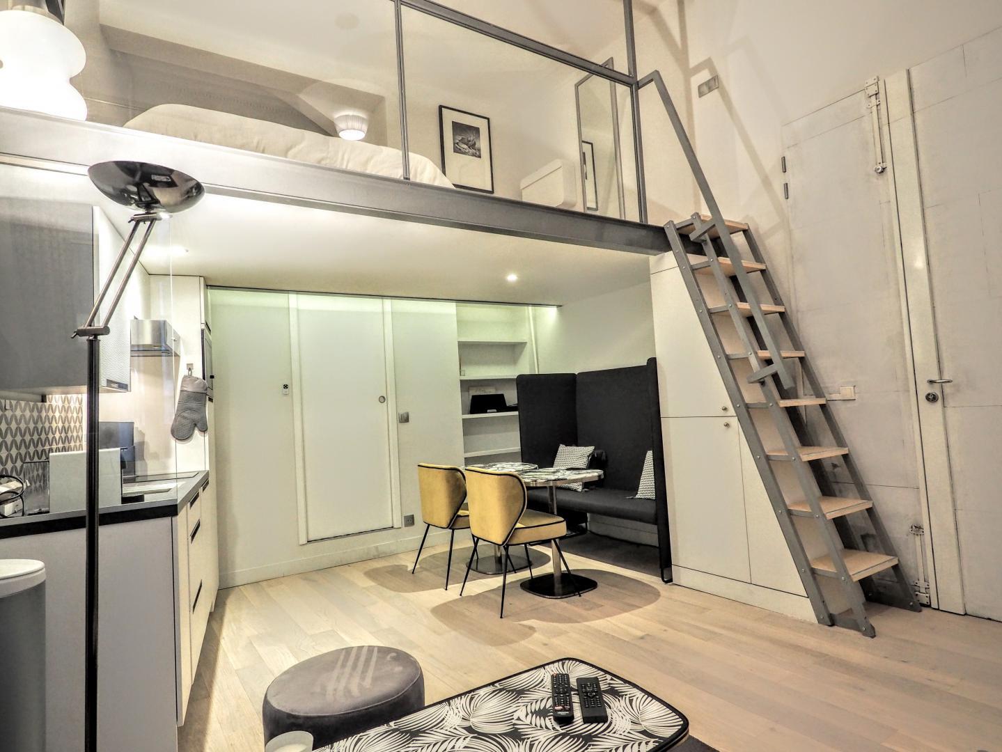 location appartement meubl paris grand studio louer invalides. Black Bedroom Furniture Sets. Home Design Ideas