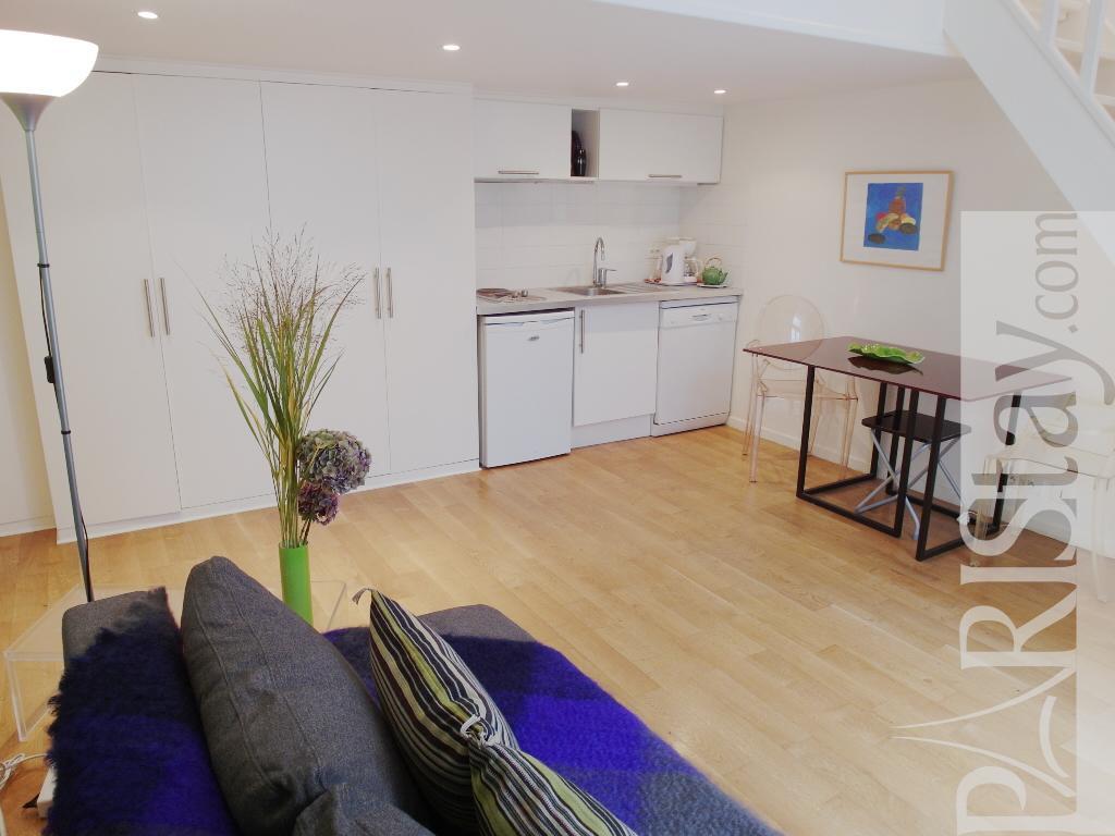 paris location meubl e duplex type t1 studio saint peres. Black Bedroom Furniture Sets. Home Design Ideas